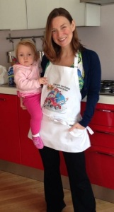 Eva with apron