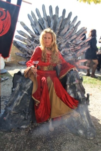 Cersei on throne