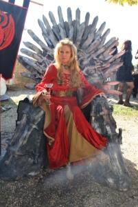 Cersei on throne